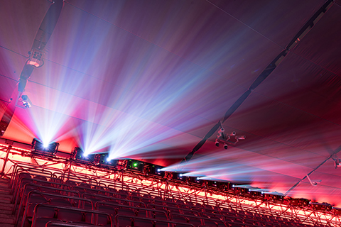 FC Bayern München video mapping projector rig