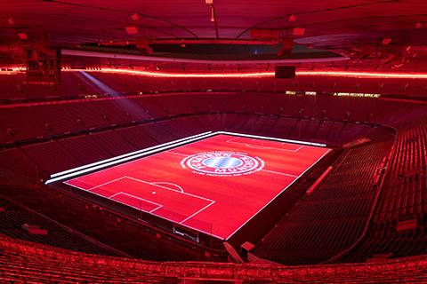 FC Bayern München logo video mapping