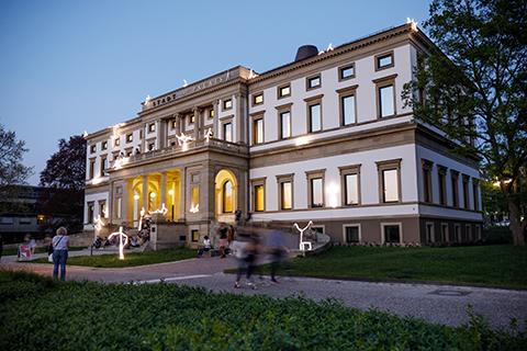 Stadtpalais Stuttgart opening installation by lichtgestalten