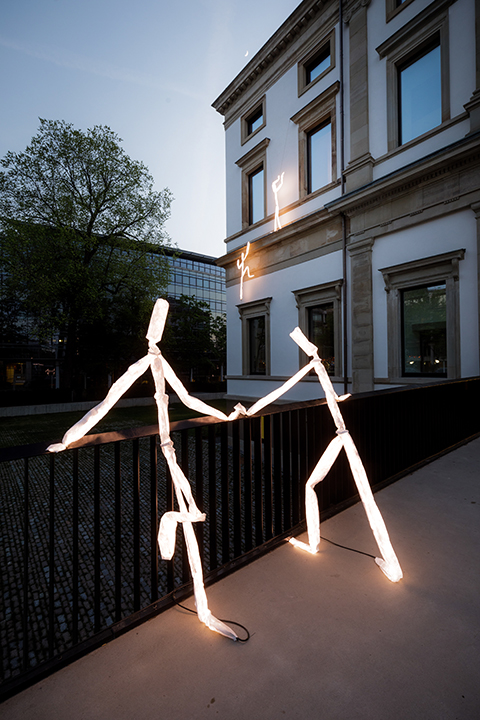 LED light figure couple