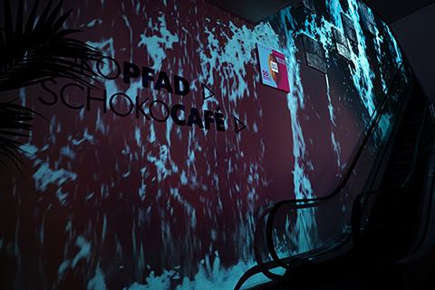 Video art at Ritter Sport Store, Berlin